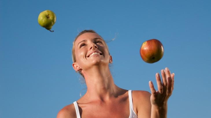 Auch gesunde Ernährung spielt eine Rolle!
