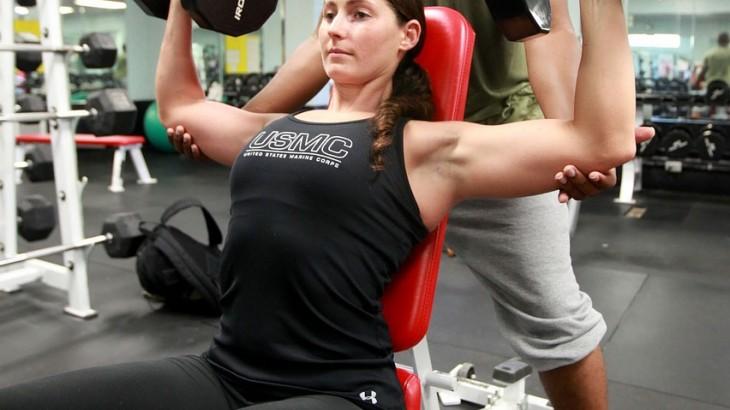 Trainieren im Fitnesstudio